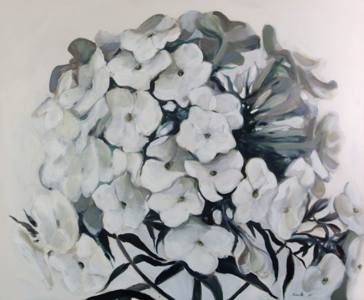 White_on_white_Flower_painting, lillemaalid