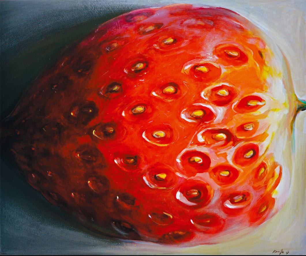 modern paintings. Fruit Paintings by Kamille Saabre