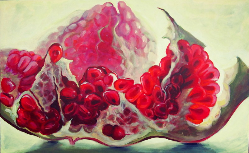 painted pomegrante Kamille Saabre
