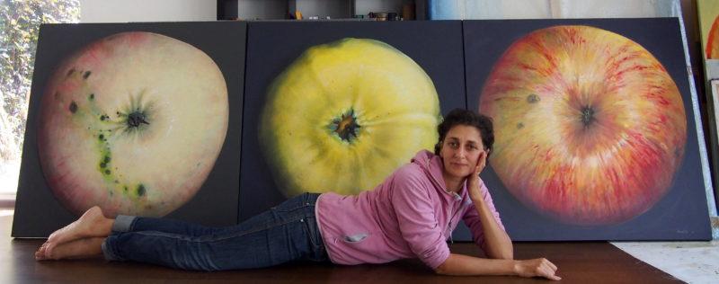 apple painting, maalid õuntest, Paintings of apples by Kamille Saabre