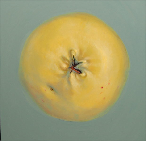 maalitud õun, painted apple