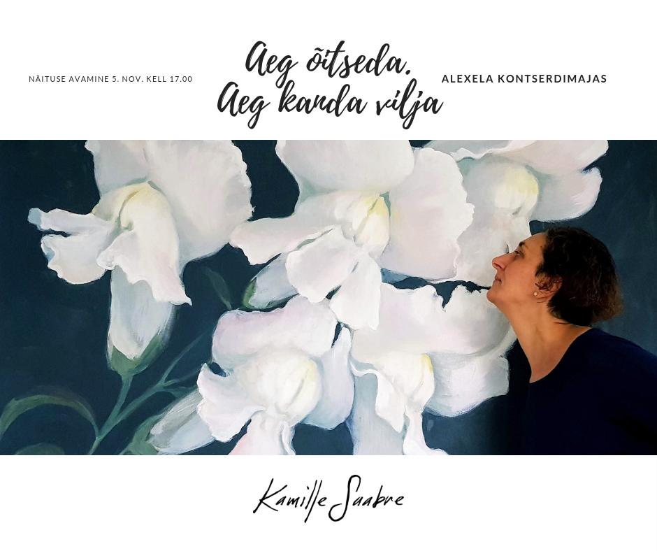 Kamille Saabre maalide näitus Alexela Kontserdimajas