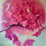 flower paintings, Kamille Saabre Pink Paintings
