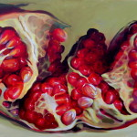 Buy original Marsala paintings. Pomegranate paintings by Kamille Saabre