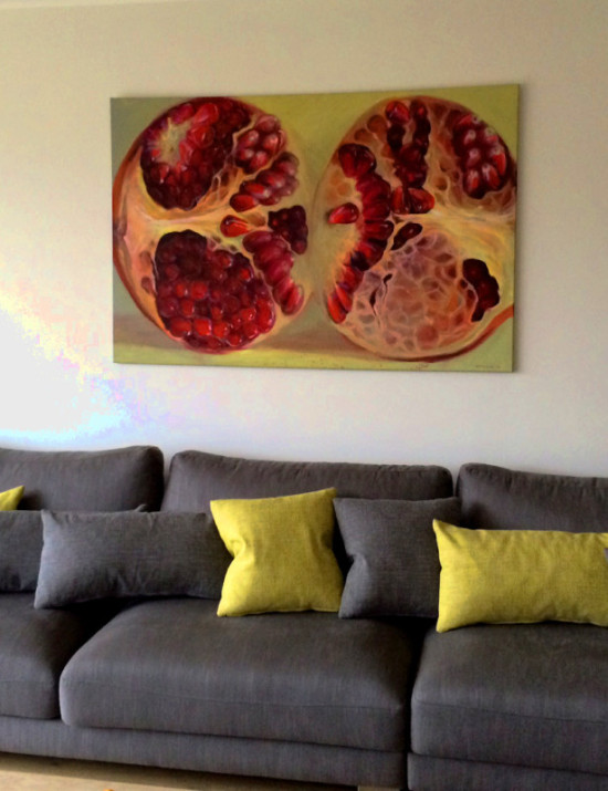Art in Interior Design. Painting by Kamille Saabre