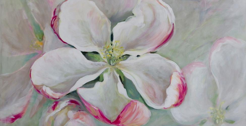 Apple tree blossom painting