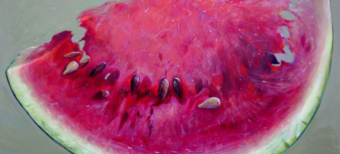 painted watermelon