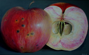 Apple painting by Kamille Saabre