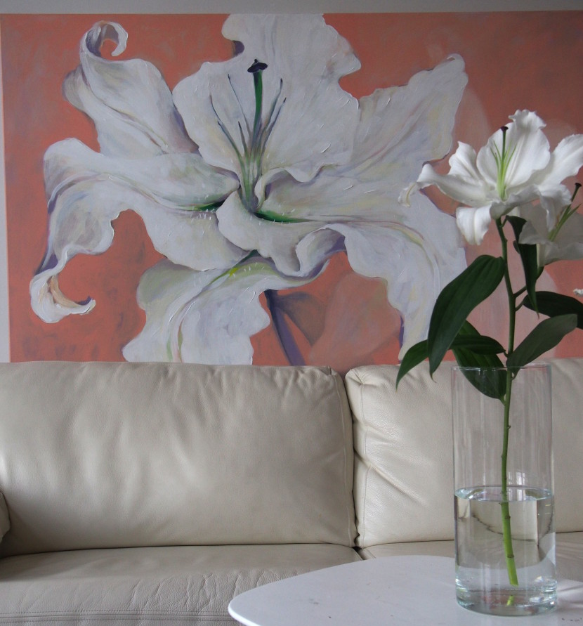 lillemaalid, painting lily, kunst