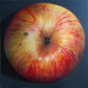 painted apple. maalitud õun