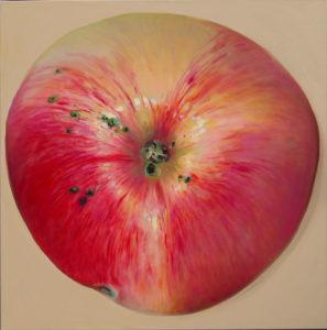 maalitud õun, painted apple