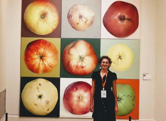 Kamille Saabre apple paintings travel to BEIJING INTERNATIONAL ART BIENNALE